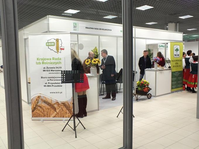 Krajowa Rada Izb Rolniczych na Centralnych Targach Rolniczych w Nadarzynie