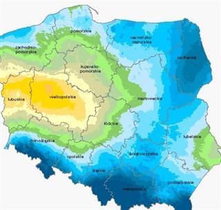 Klimatyczny bilans wodny – uwzględniono kukurydzę na ziarno oraz na kiszonkę na I kategorii gleb