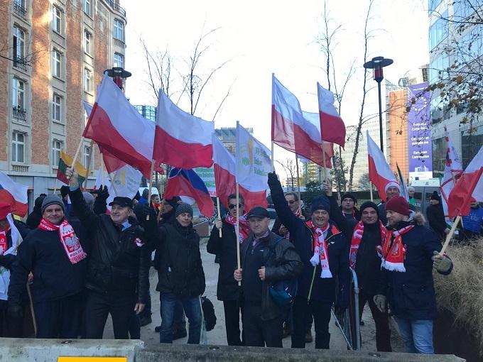 Wspólny protest izb rolniczych w Brukseli